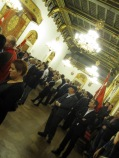 The reception at the town hall
