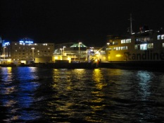 Helsingborg harbour at night