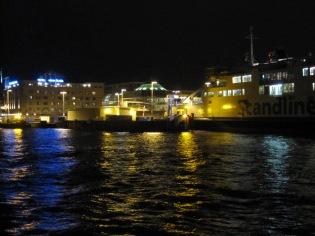 Helsingborg harbour at night
