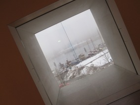 The view from Moderna Museet to the outside