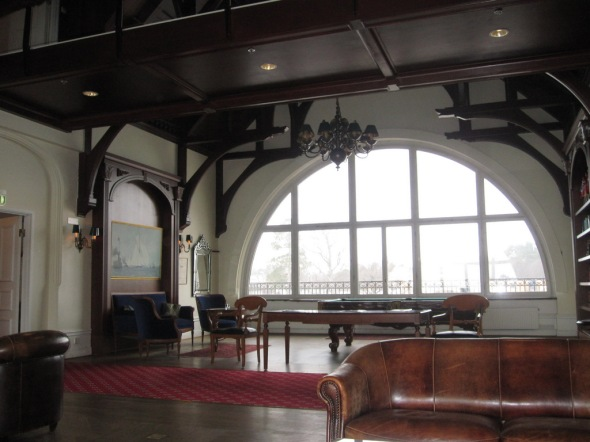 LIbrary, pool room and bar in the Grand Hotel at Saltsjobaden