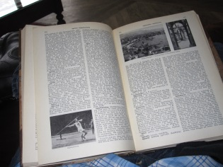 Inside a copy of Nordiska Familjebok which I think is the local Encyclopedia Brittanica