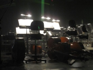 The orchestra pit for the ABBA tribute