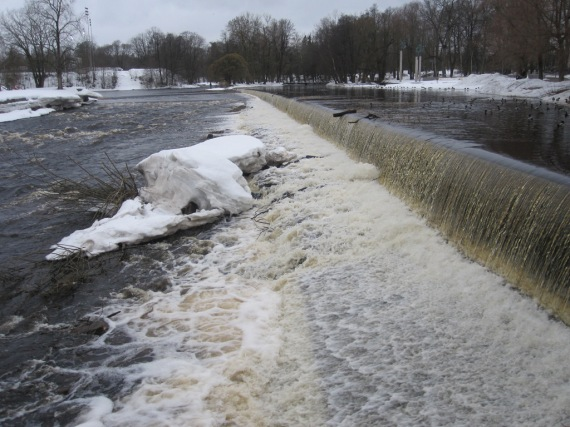 Spillway on the river in Gavle