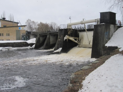 Hydro scheme on the river