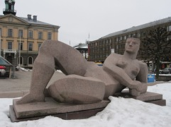The major sculpture in town