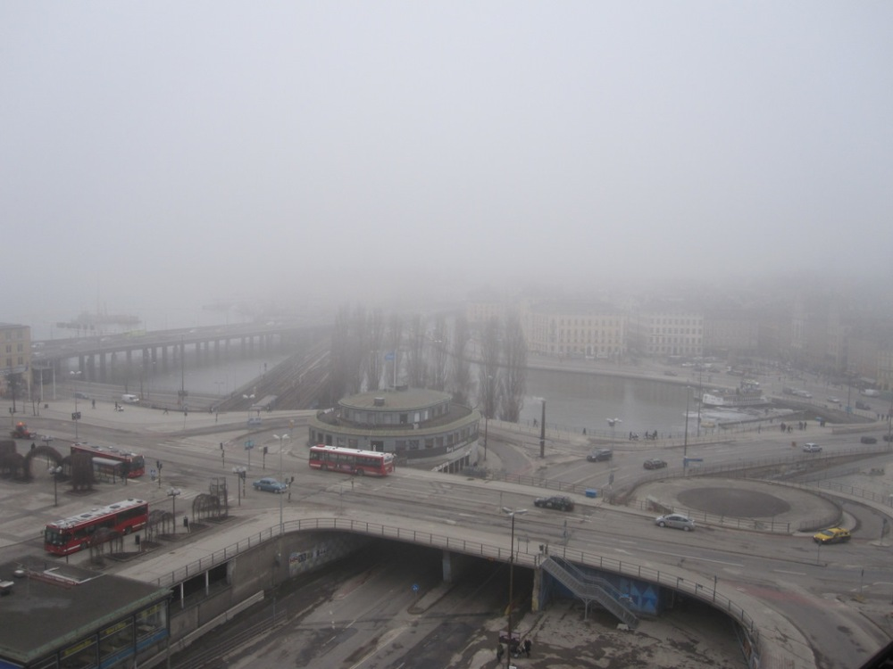 The non-view from Katarinahissen