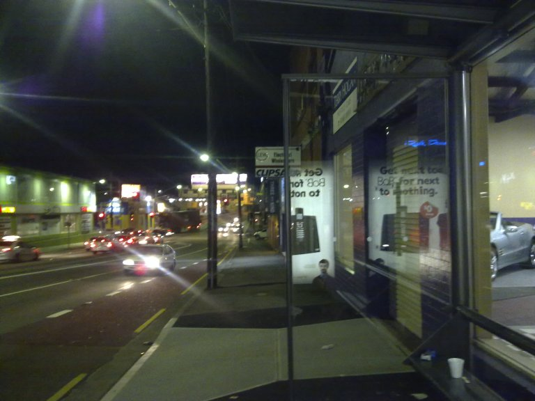 Bus stop on Parramatta Road
