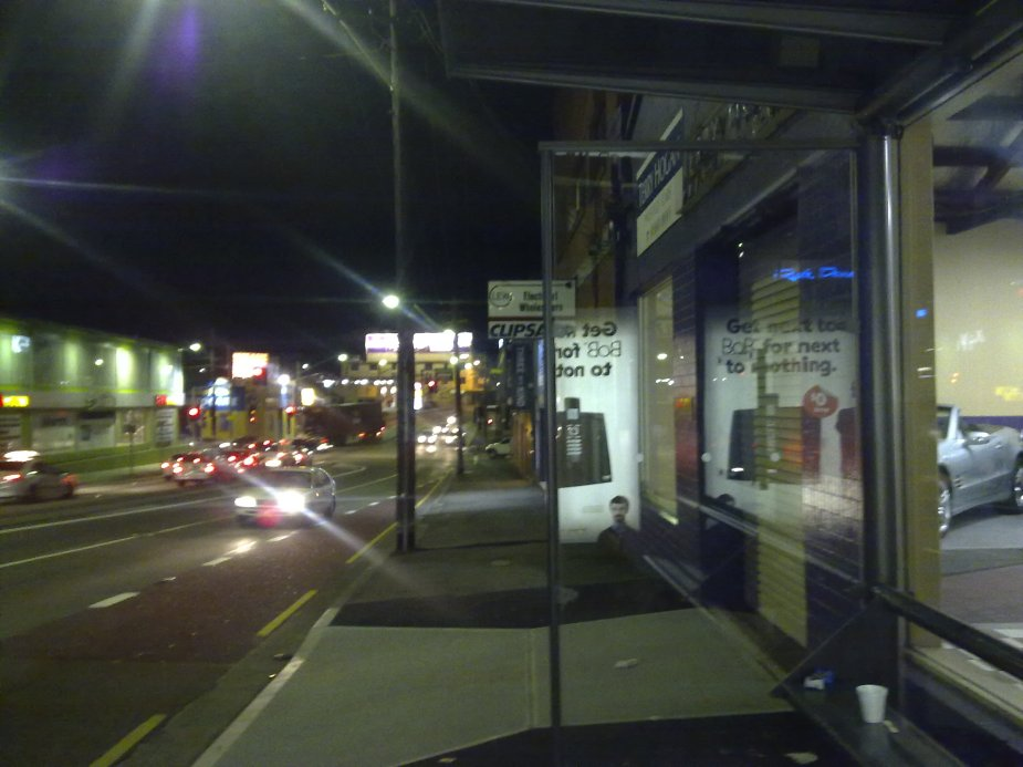 Bus stop on Parramatta Road
