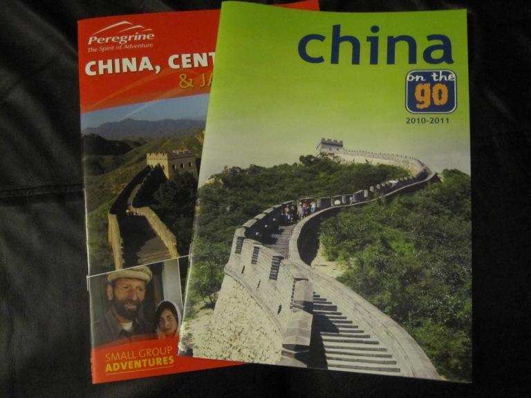 China travel brochures
