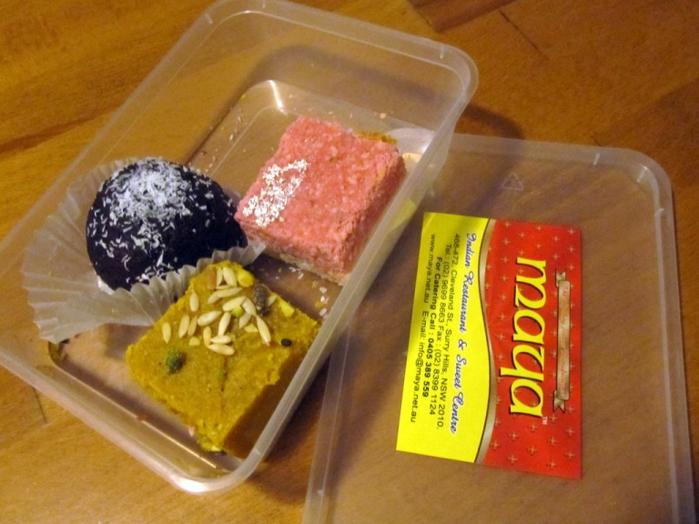 Indian sweets from Maya