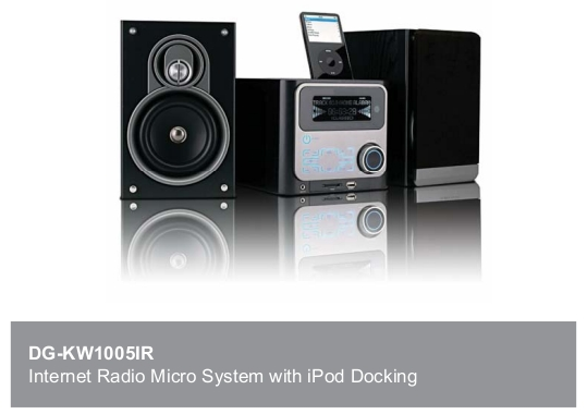 Internet Radio with Mini System and iPod Dock