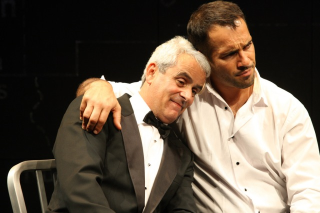David Mitchell and Alex Dimitriades, publicity photograph for Ensemble Theatre production