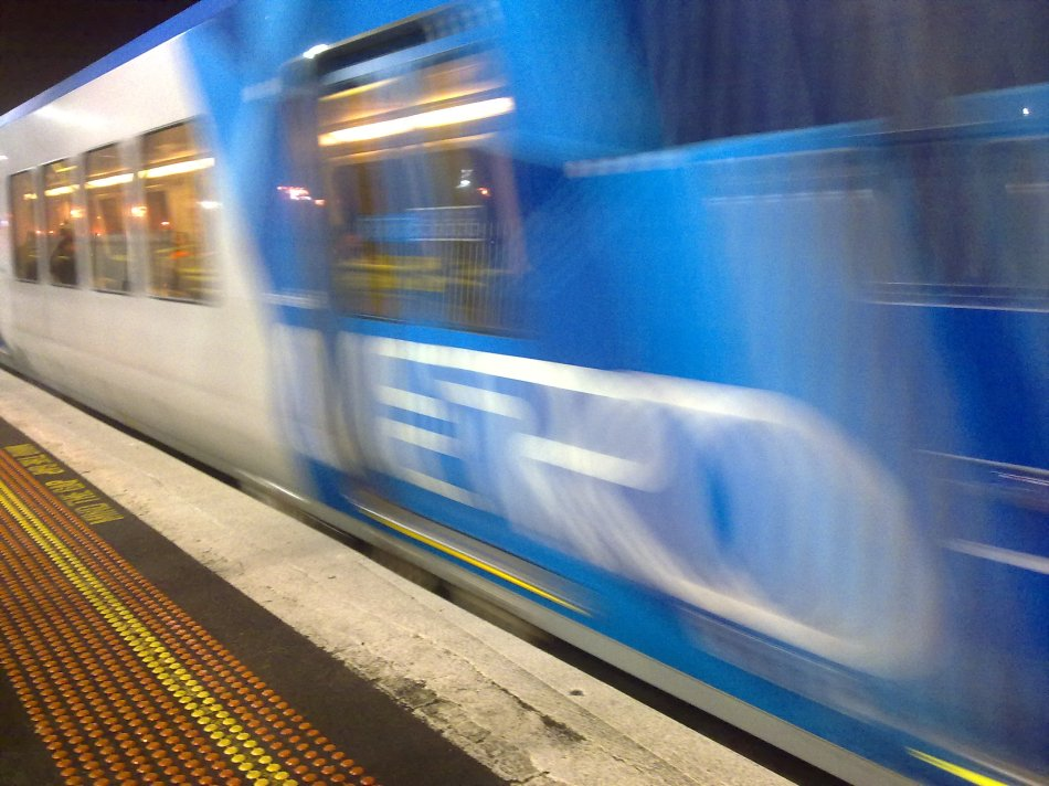Early morning train in Melbourne