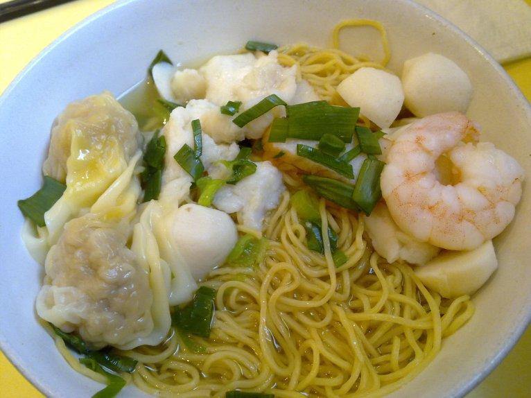Wonton Seafood Noodle Soup