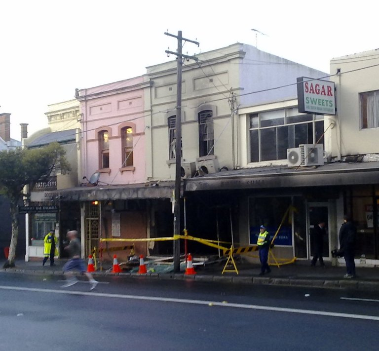 Explosion aftermath on Cleveland Street
