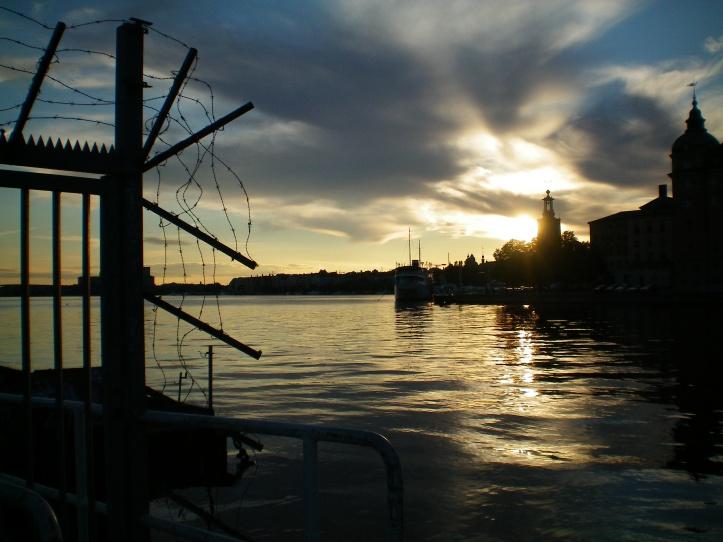 Stockholm near sunset