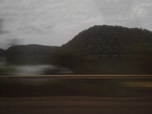 View from the train, Central Coast, NSW