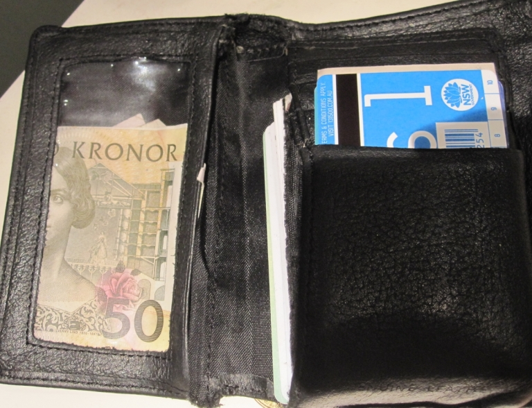 50 Kronor and a My Zone 1 bus pass