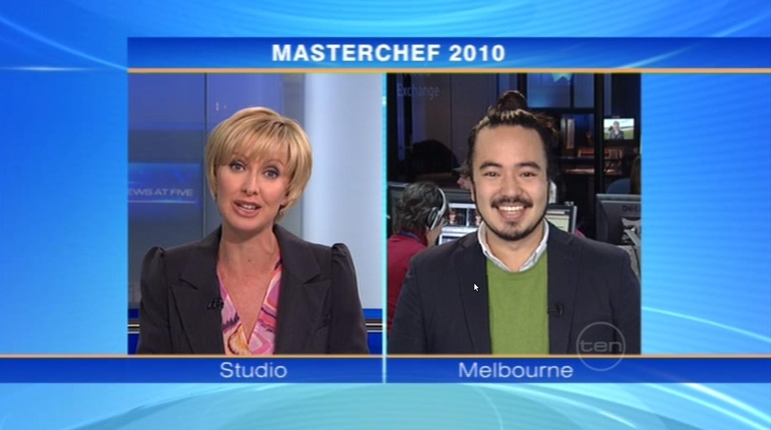 Masterchef winner on Channel 10 News