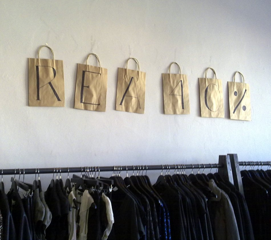 Forty percent sale at Somedays in Surry Hills