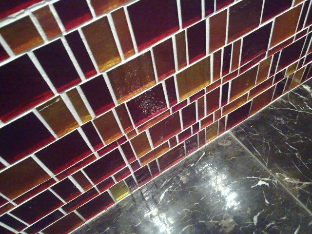 Bathroom tiles at the Flinders Inn