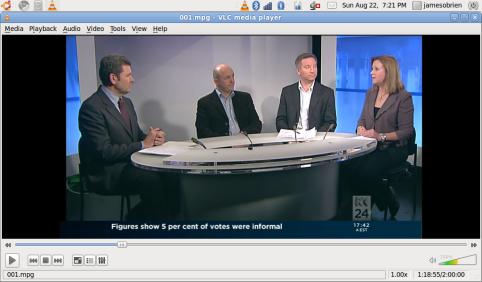 Chris Uhlman and panelists on ABC News 24 today