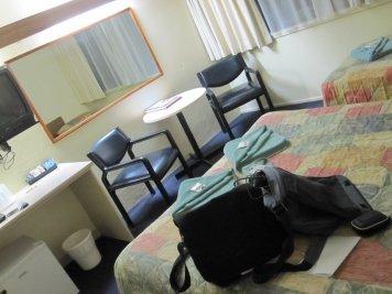 Back in my hotel room