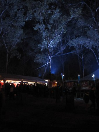 Night time at The Muster