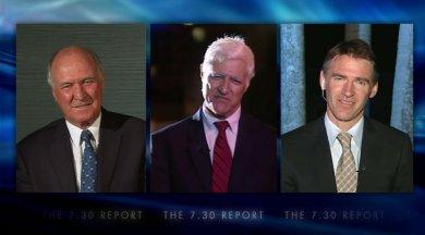 Tony Windsor, Bob Katter and Rob Oakeshot on 7.30 Report