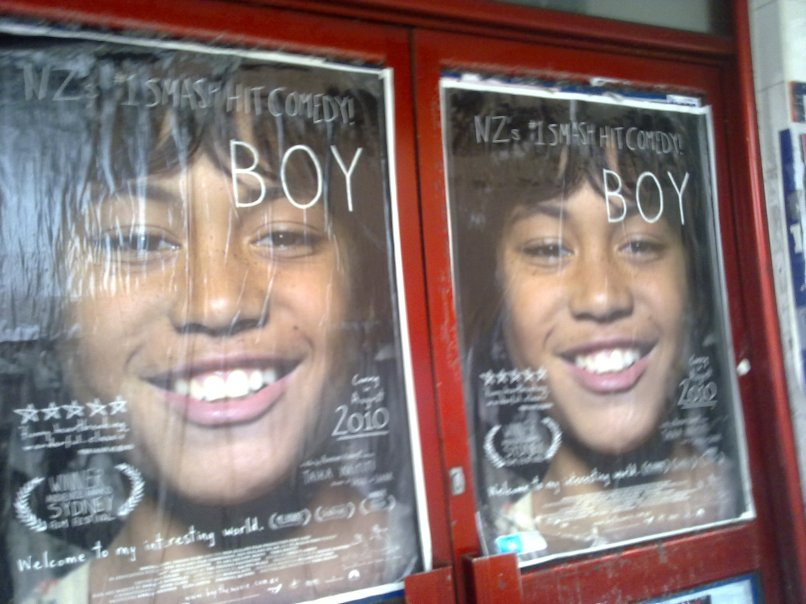 Posters for Boy in a shop window on Oxford Street