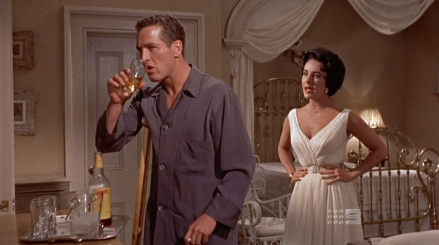 Paul Newman and Elizabeth Taylor in Cat On A Hot Tin Roof
