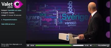 Swedish political debate on television