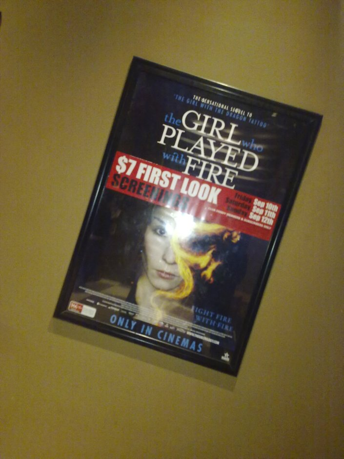 Girl who played with fire movie poster at Dendy, Newtown, Sydney