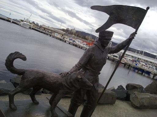 Mawson statue in Hobart