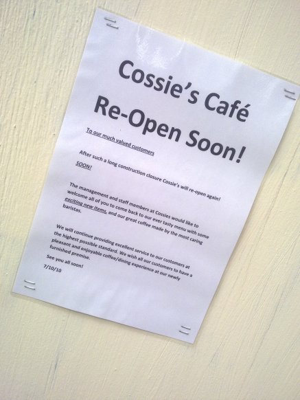 Cossies to re-open