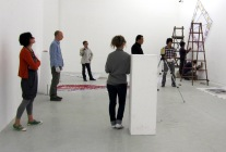 Australian art works being installed in Beijing gallery