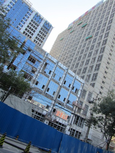 Youth hostel and other buildings under construction