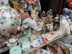 Some of the items on display at the dirt market
