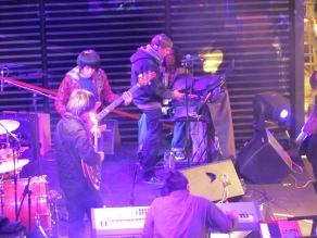 Jazz-rock band plays at San li tun