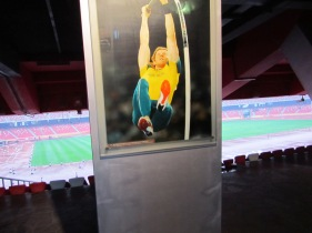 Australian featured in a photograph inside the Beijing Olympic Stadium