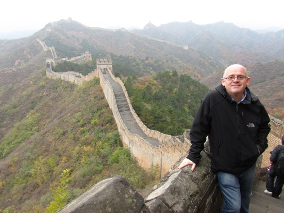 Thats me and thats the Great Wall of China