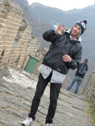 Phil does yoyo tricks on the Great Wall of China