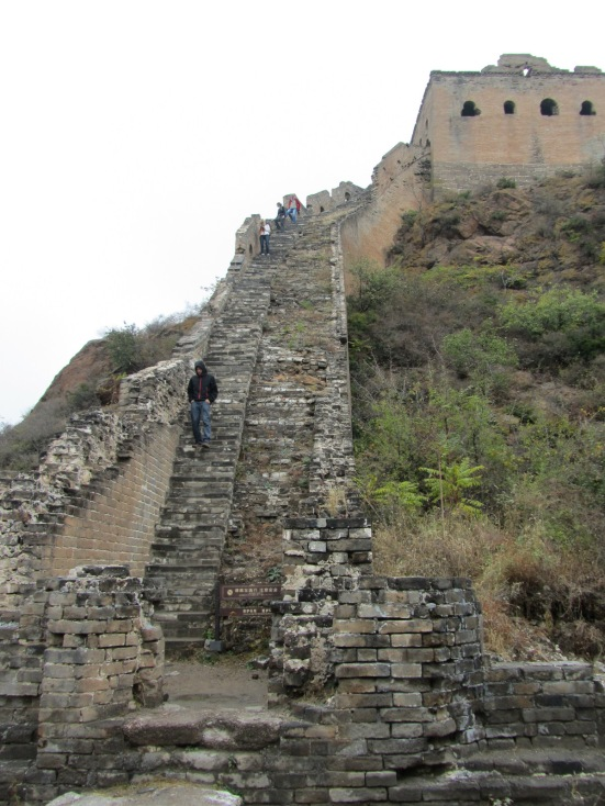 A reasonably steep incline on the Great Wall of China