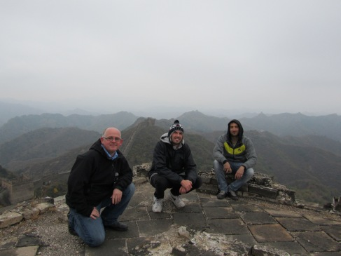 James, Phil and Guy on the Great Wall of China