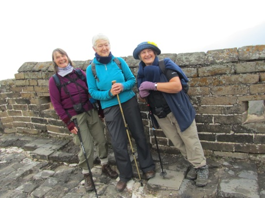 Three women from Somerset on a five day walk of the Great Wall of China, raising funds for their hospice back home.