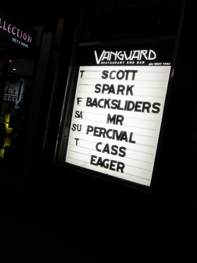 Scott Spark plays The Vanguard