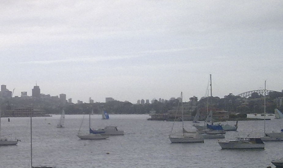 The view from Drummoyne