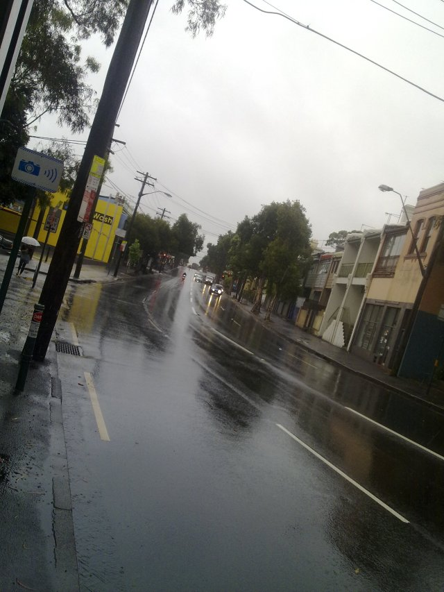 Wet Weather on Cleveland Street
