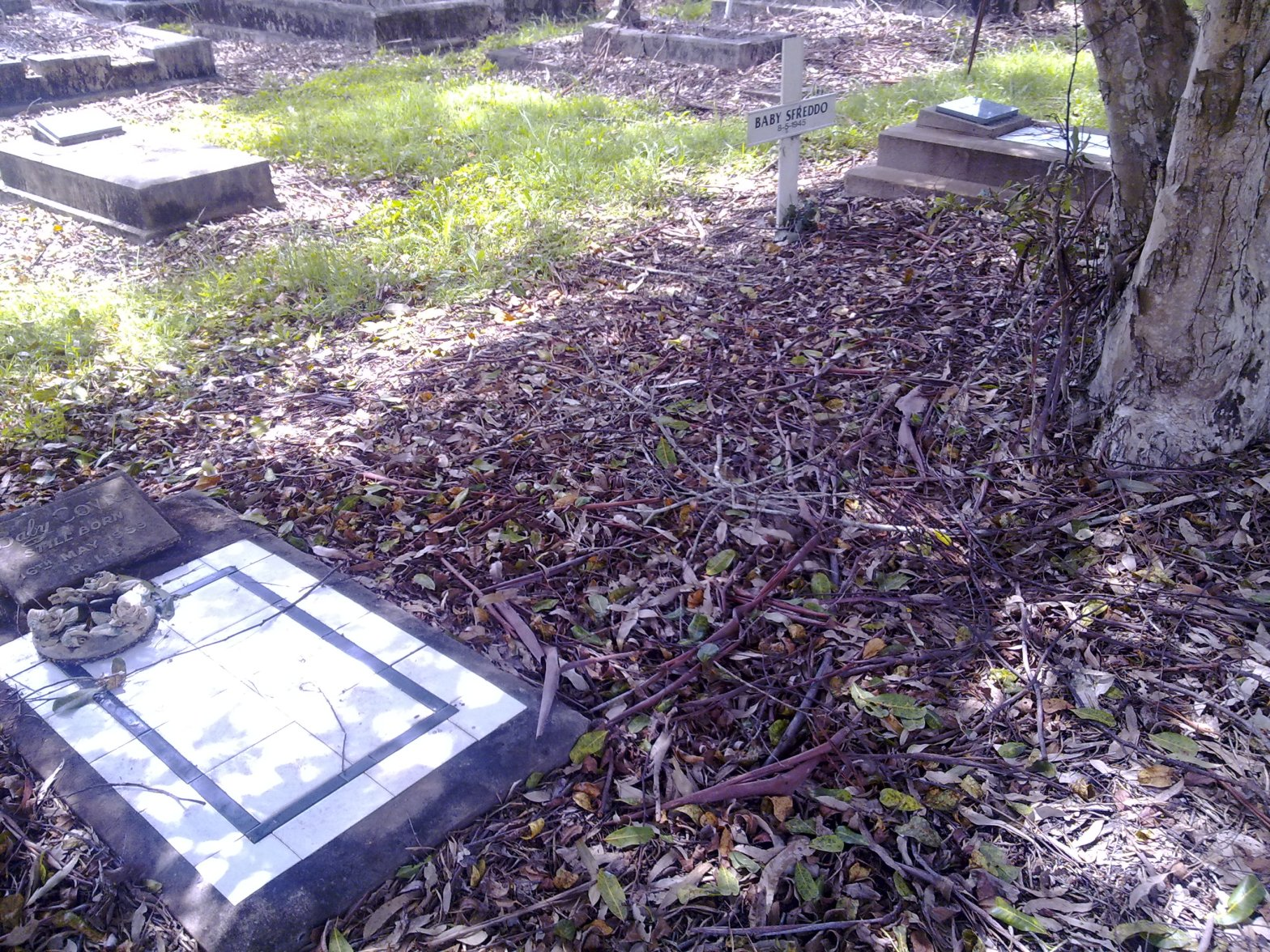 Unmarked grave for Joan Kathleen O'Brien, East Lismore Cemetery